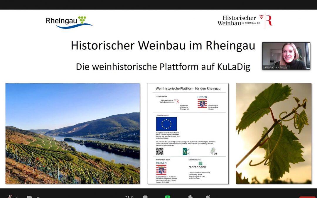 Präsentation der Weinhistorischen Plattform